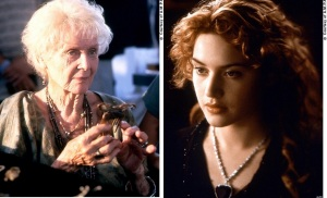 Rose Dawson... Old and Young Comparison from Titanic (1997)
